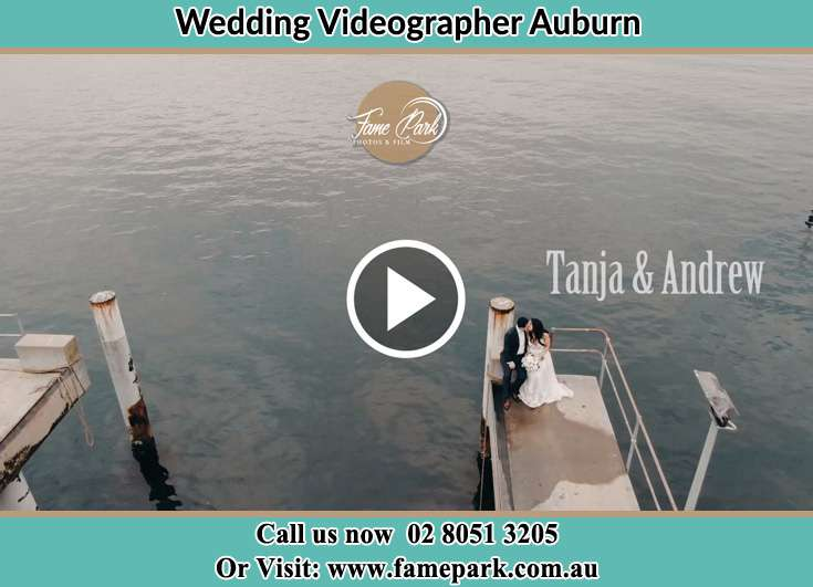 Bride and Groom kissed at the bay Auburn NSW 2144