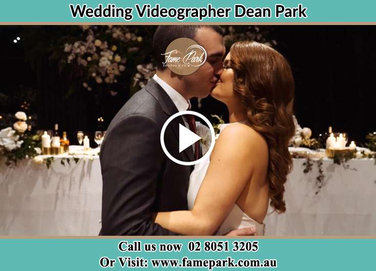 Bride and Groom kissed at the dance floor Dean Park NSW 2761