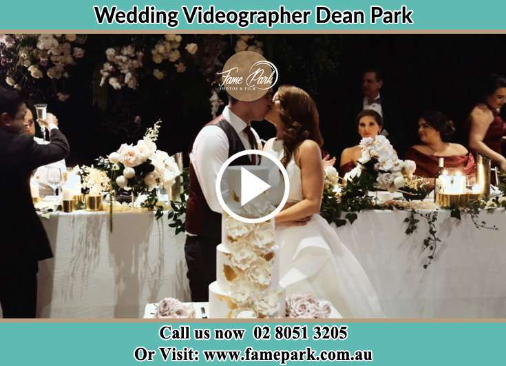 Bride and Groom kissed at the reception Dean Park NSW 2761