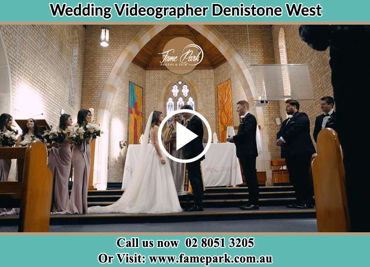 During the wedding ceremony Denistone West NSW 2114