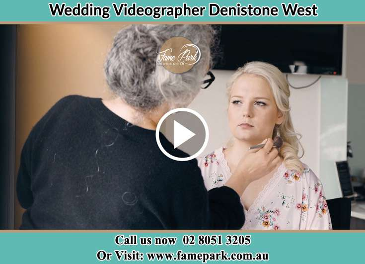 The Bride having a make-up with the help of the makeup artist Denistone West NSW 2114