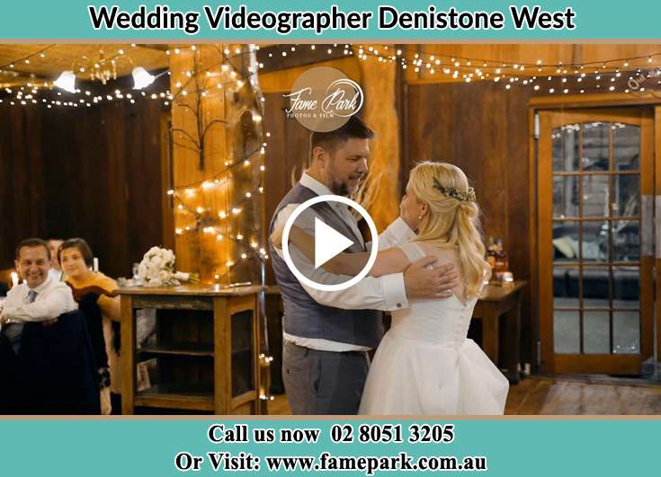 Bride and Groom looking at each other while dancing Denistone West NSW 2114