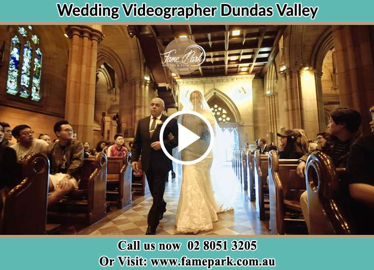 The Bride walking down the aisle with her father Dundas Valley NSW 2117