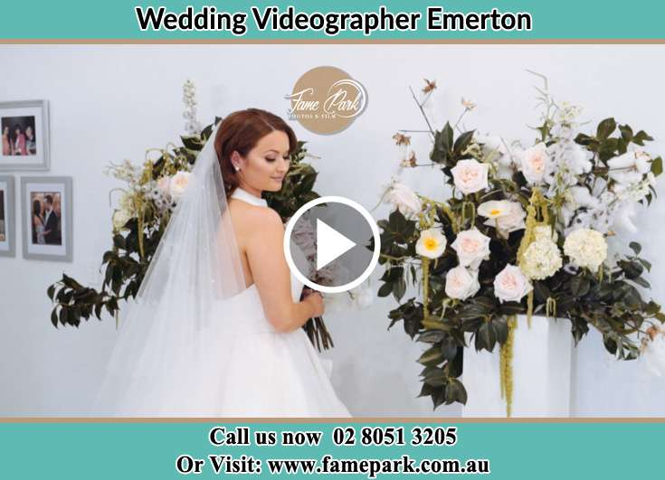 Bride already prepared with bouquet of flowers Emerton NSW 2770