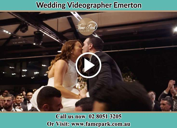 Bride and Groom kissed at the reception Emerton NSW 2770