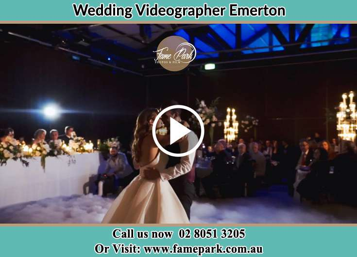 Bride and Groom kissed at the dance floor Emerton NSW 2770