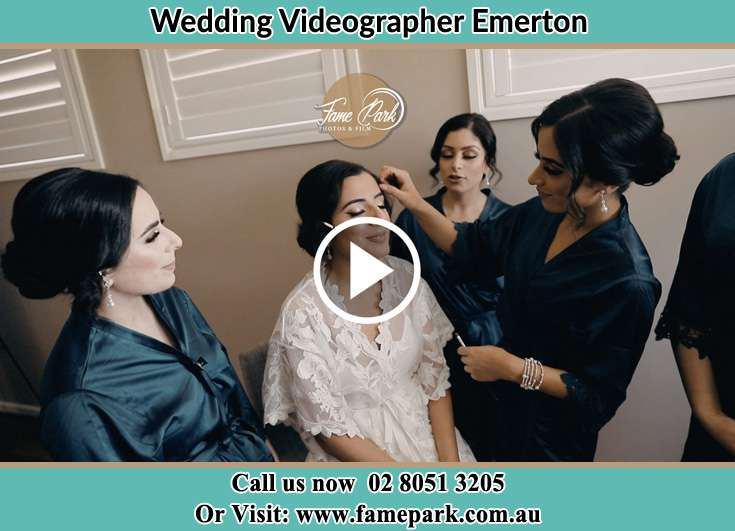 Bride getting her make up done with her secondary sponsors Emerton NSW 2770