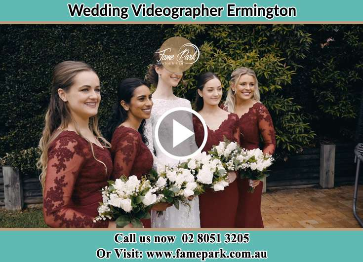 Bride and her secondary sponsors posed on the camera Ermington NSW 2115
