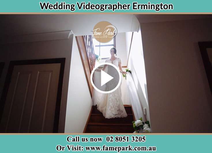 The Bride walking downstairs Ermington NSW 2115