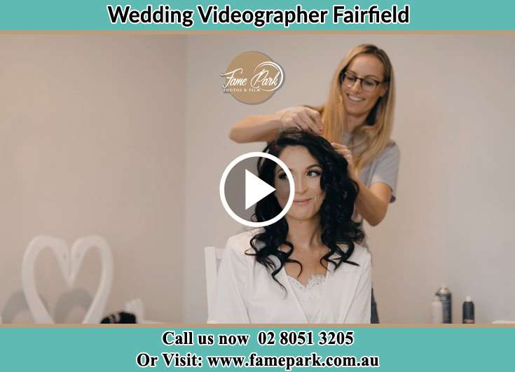 Bride getting her hair fixed Fairfield NSW 2165