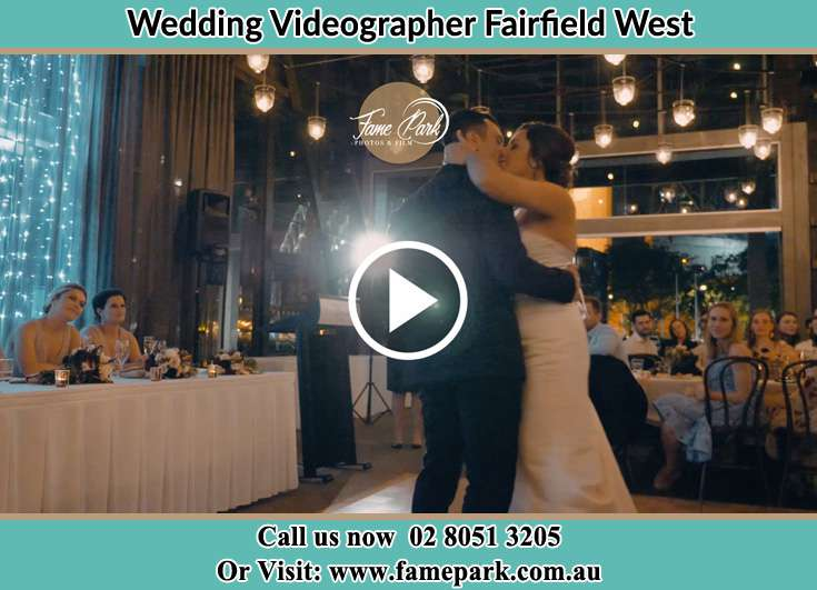 Bride and Groom kissed at the dance floor Fairfield West NSW 2165