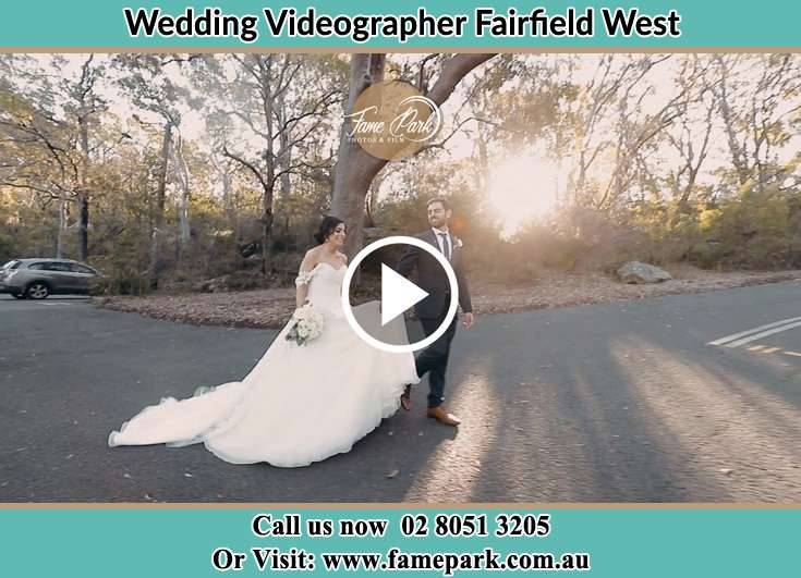 Bride and Groom walking at the park Fairfield West NSW 2165