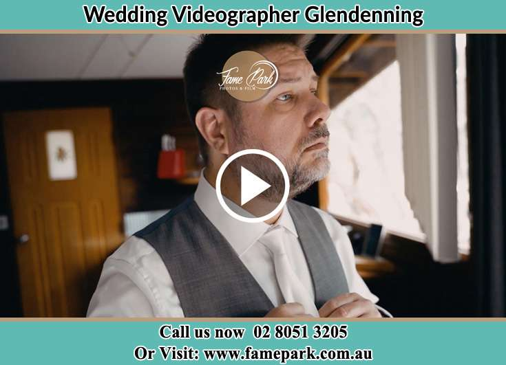 Groom preparing for trhe event Glendenning NSW 2761