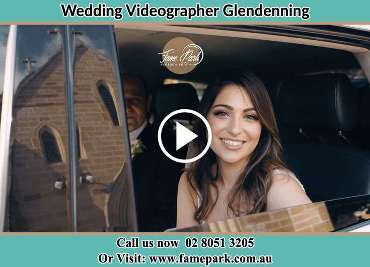 Bride inside the Bridal car Glendenning NSW 2761