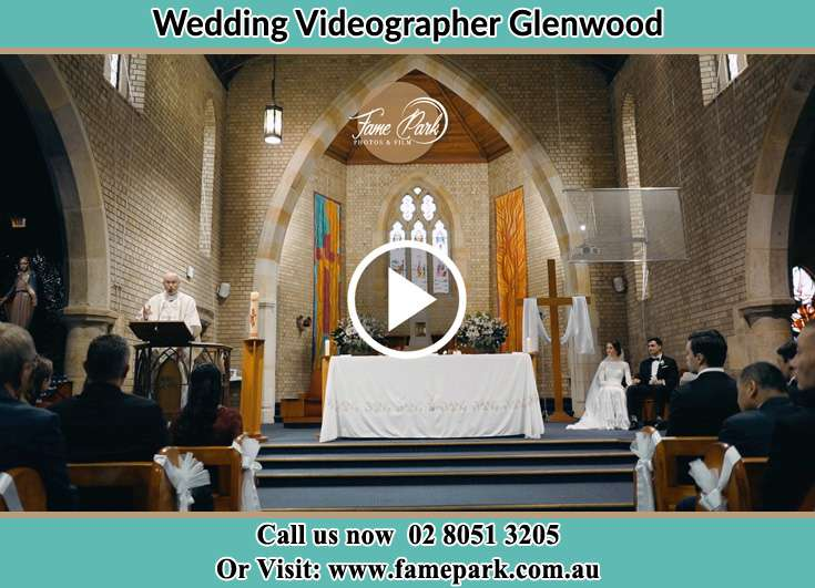 Bride and Groom at the altar during the ceremony Glenwood NSW 2768