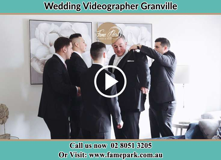 Groom already prepared with his secondary sponsors Granville NSW 2142