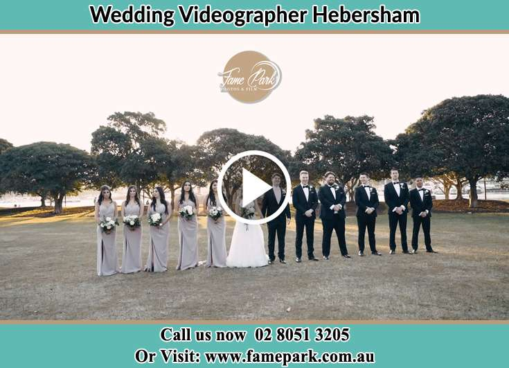Bride and Groom at the park with their secondary sponsors Hebersham NSW 2770