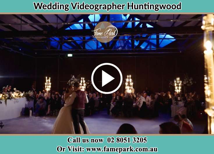 Bride and Groom looking at each other at the dance floor Huntingwood NSW 2148