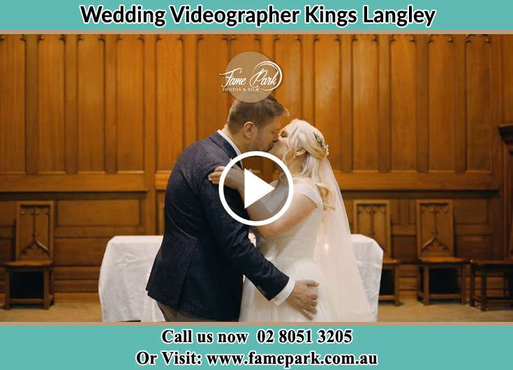 Bride and Groom kissed at the altar Kings Langley NSW 2147