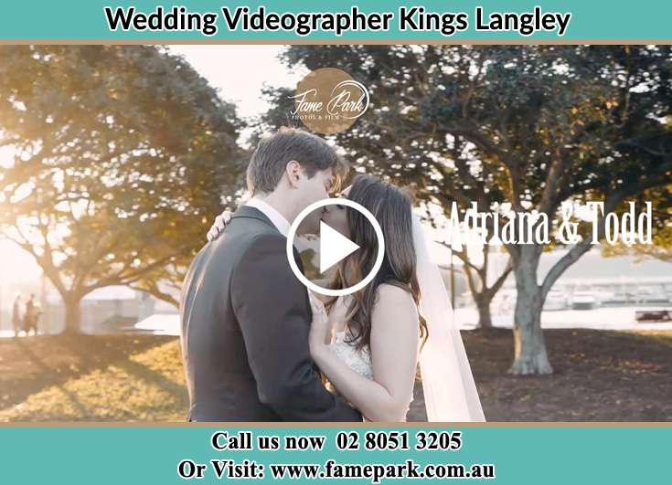 Bride and Groom kissed at park Kings Langley NSW 2147