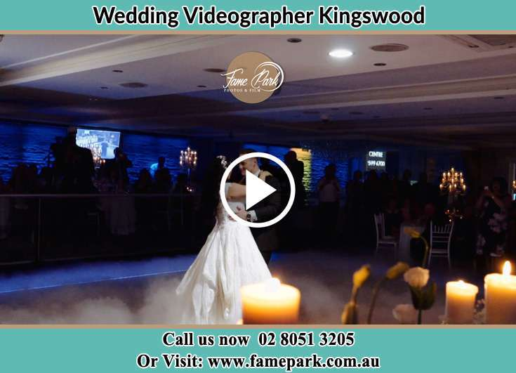 Bride and Groom dance at the dance floor Kingswood NSW 2747