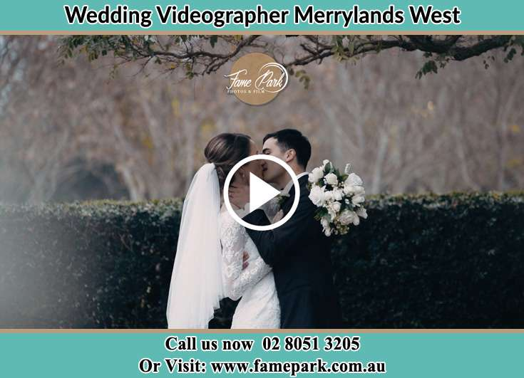 Bride and Groom kissed at the garden Merrylands West NSW 2160