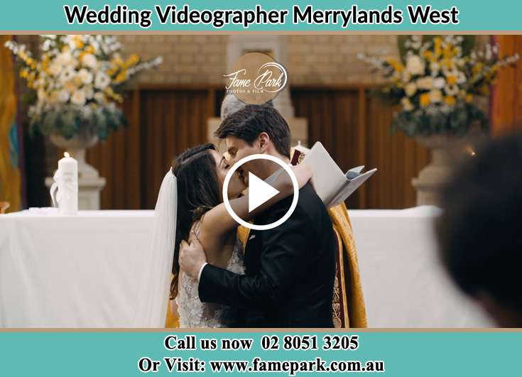 Bride and Groom kissed at the altar Merrylands West NSW 2160