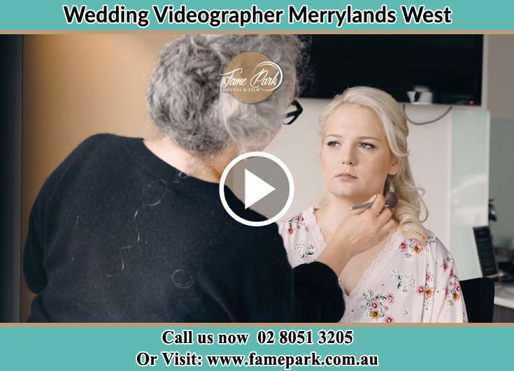 Bride getting her make up done Merrylands West NSW 2160