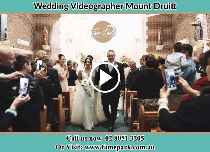 Bride and Her father walking in the aisle Mount Druitt NSW 2770