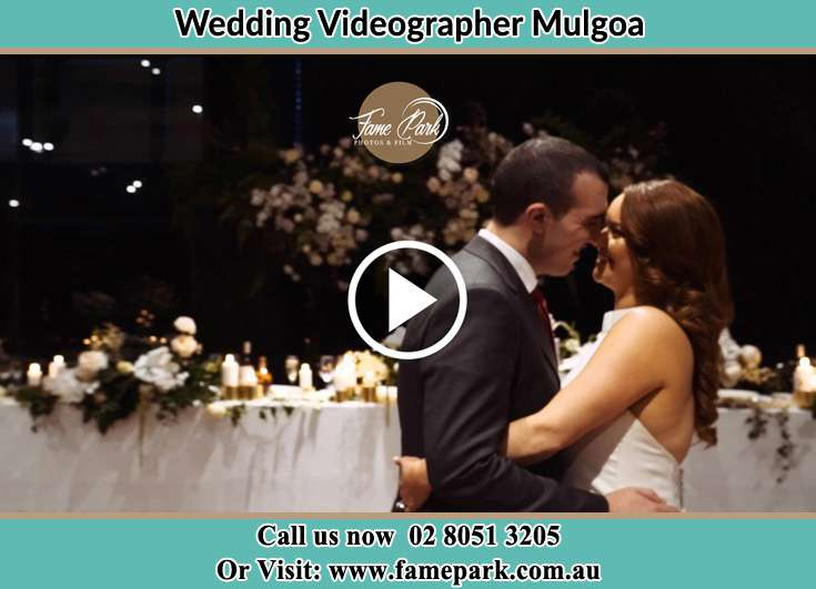 Bride and Groom looking at each other at the dance floor Mulgoa NSW 2745