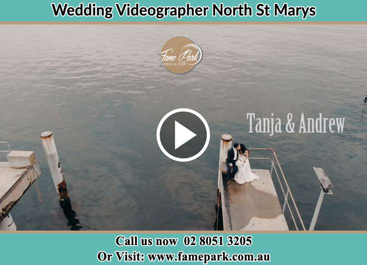 Bride and Groom kissed at the shore North St Marys NSW 2760