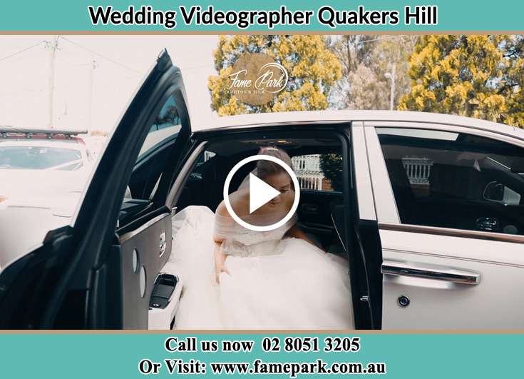 Bride getting down the car Quakers Hill NSW 2763