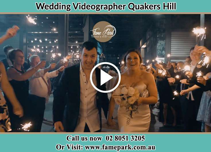Bride and Groom walk through the crowds Quakers Hill NSW 2763