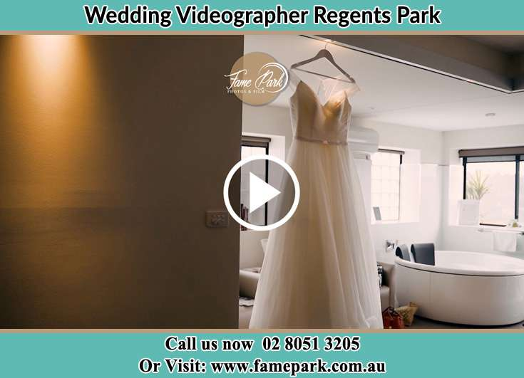 Bride's wedding gown Regents Park NSW 2143