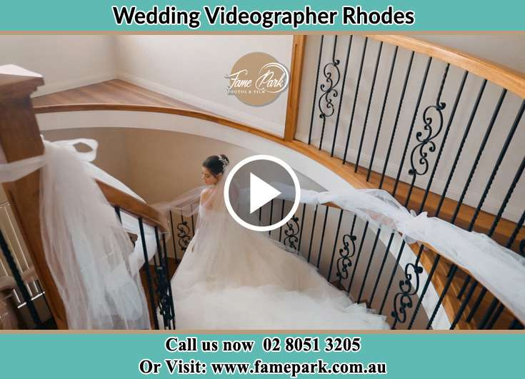 The Bride walking downstairs Rhodes NSW 2138