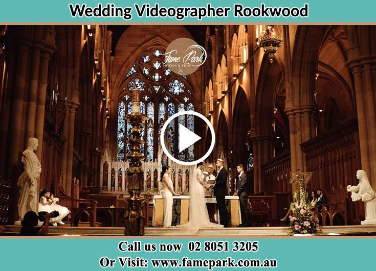 Bride and Groom at the altar Rookwood NSW 2141