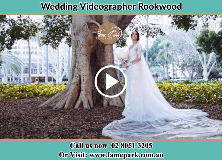 Bride under the tree at the park Rookwood NSW 2141