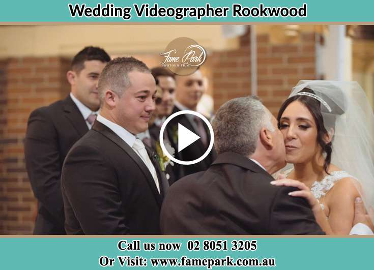 Bride and Groom at the ceremony Rookwood NSW 2141