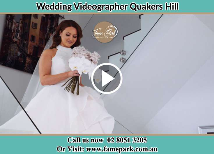 Bride getting down the staircase Sefton NSW 2162