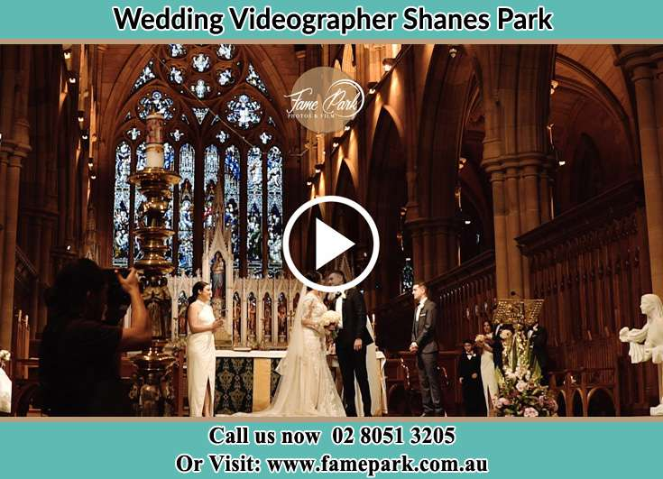 Bride and Groom at the altar Shanes Park NSW 2747