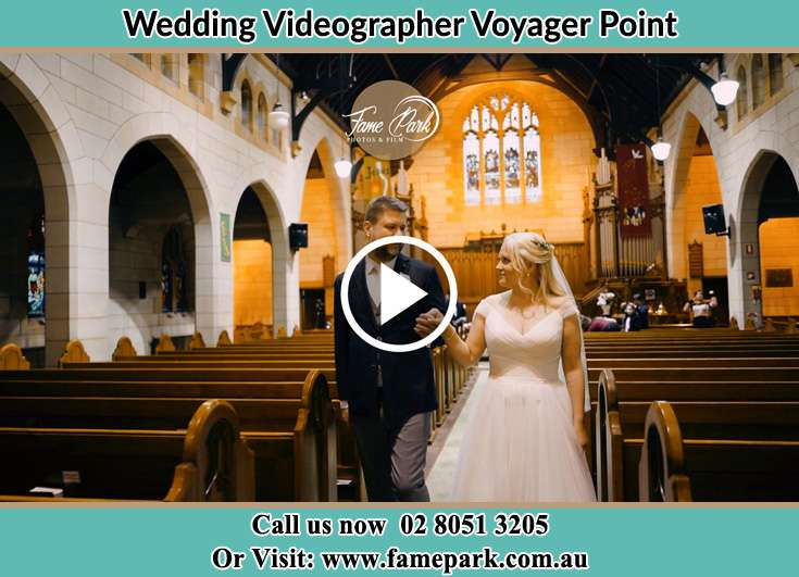 The newlyweds walk away from the altar Voyager Point NSW 2172
